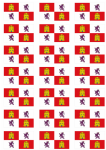 Castile and León Flag Stickers - 21 per sheet